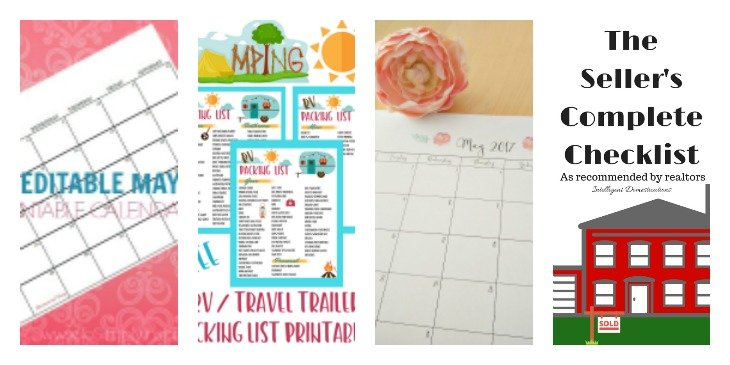 Free Printables to keep you organized. Merry Monday Link Up Features