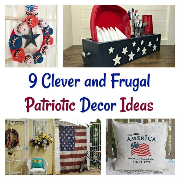 Red White and Blue Patriotic Decor DIY Ideas