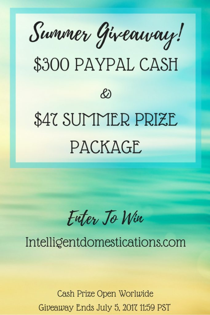 Summer 2017 $300 Paypal Cash Giveaway. Enter to win $300 in Paypal Cash. Ends July 5, 2017