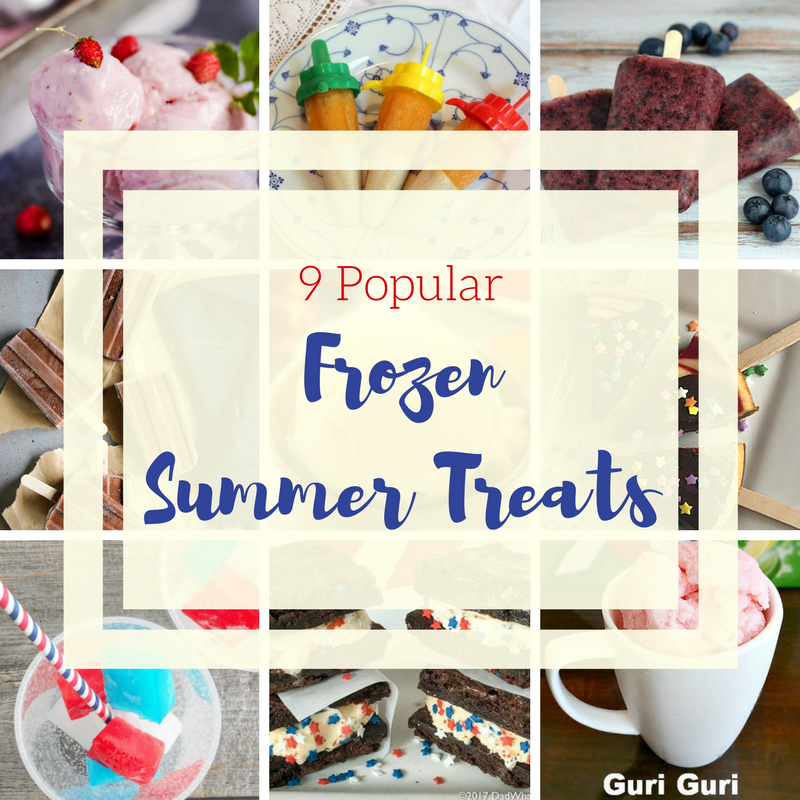 9 Popular Frozen Treats Recipes not just for summer! Recipes for frozen summer treats, not just popsicles!