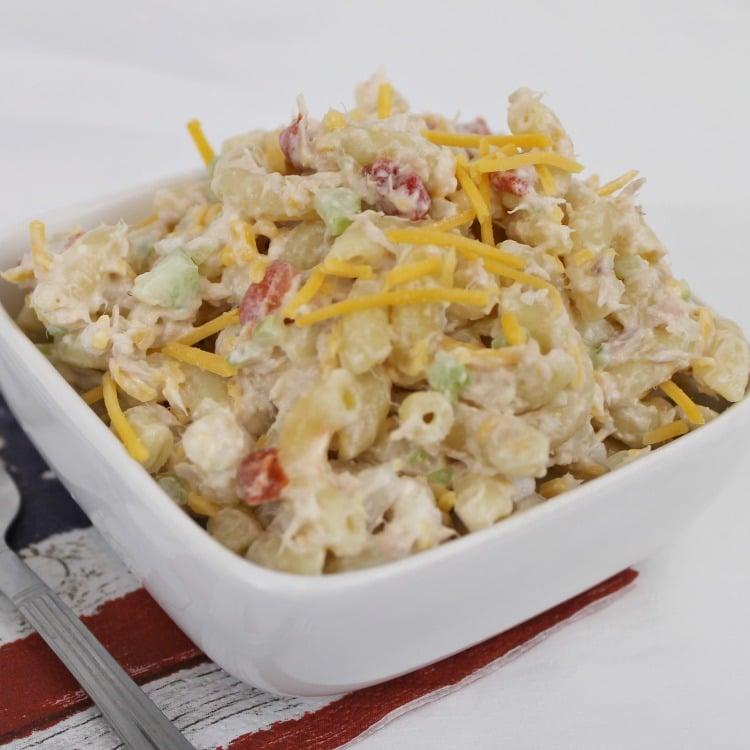 Tuna Pasta Salad recipe. Tuna Macaroni Salad recipe.