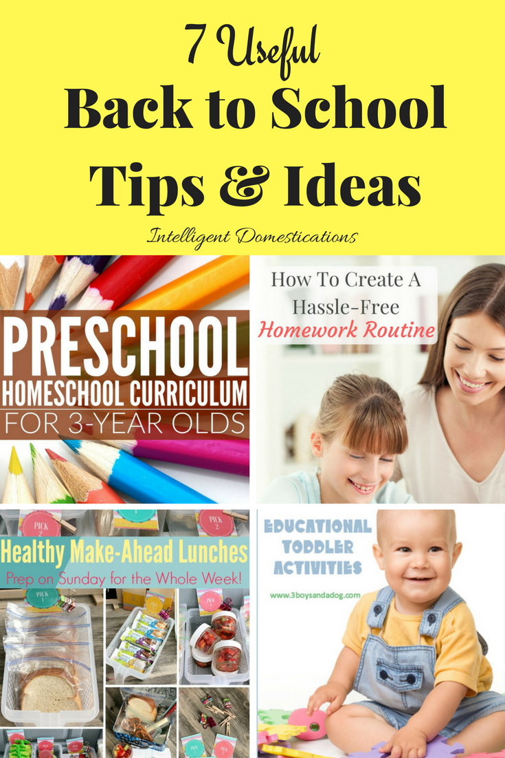 Back to School Tips Featured at Merry Monday Link Up party. 7 Useful Back to School Tips and Ideas