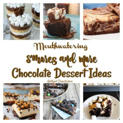 S'mores and More Chocolate Dessert Ideas at Merry Monday Link Up #166