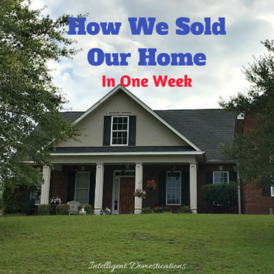 How We Sold Our Home in One Week
