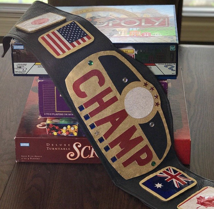 How To Make An Authentic Looking Championship Belt for family competitions. DIY Championship Belt. How to make your own championship belt. #championshipbelt