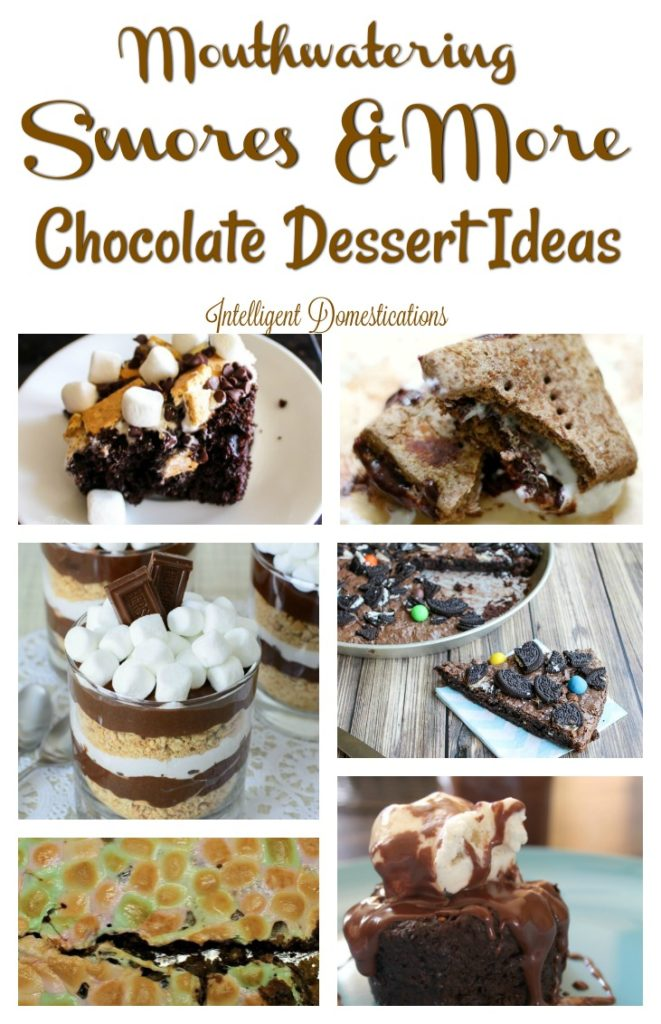 Mouthwatering S'mores recipes. Chocolate Dessert recipe ideas. Merry Monday Features.