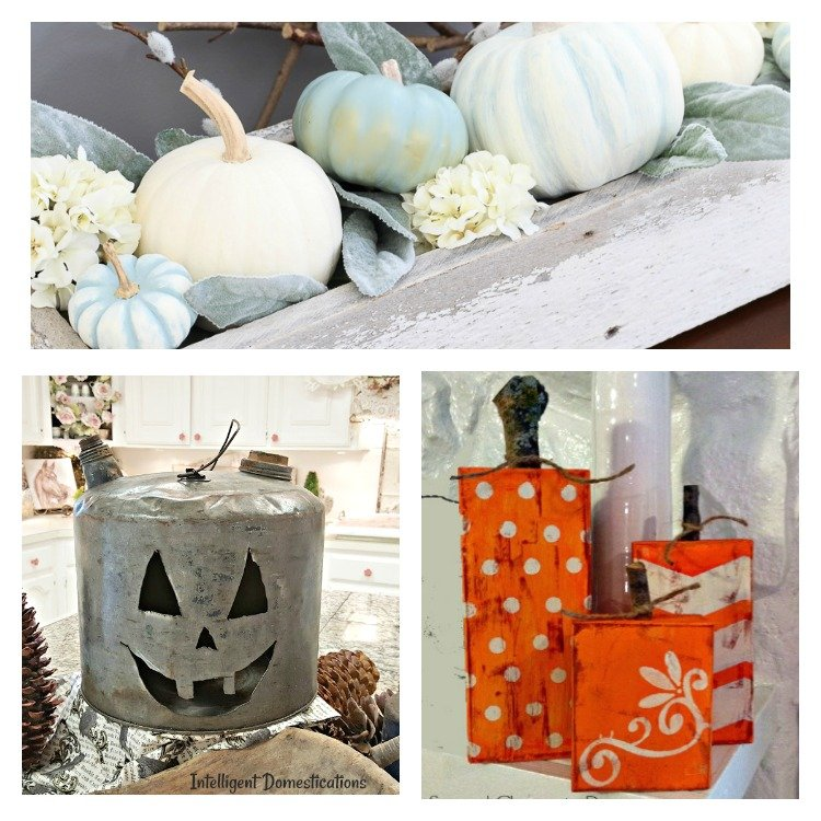 Merry Monday Link Up Party #172 Features. Pumpkin Decor Ideas