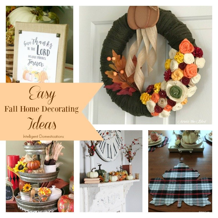 Easy fall home decorating ideas merry monday 177 intelligent domestications - Domestication home decor model ...