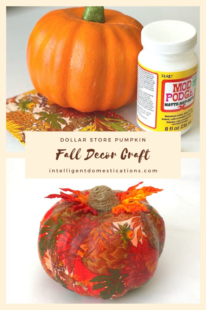 dollar store pumpkin before and after makeover