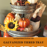 Fall coffee bar set up in a three tier galvanized