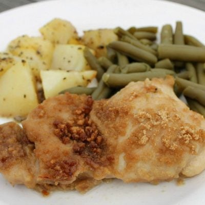 Cheerios Crusted Baked Chicken Thighs
