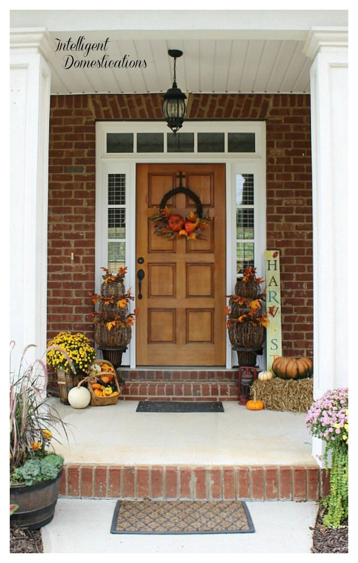 Fall Front Porch Tour. Fall front porch decor ideas. Fall porch decor. 10 Things You Can Do To Increase Your Curb Appeal. A few of these involve elbow grease, some are common sense maintenance and others will cost a few bucks. #curbappeal