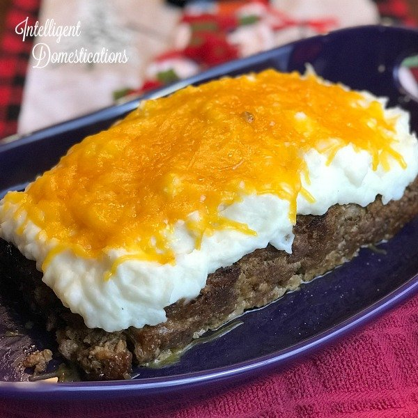 Cheesy Mashed Potato Smothered Meatloaf