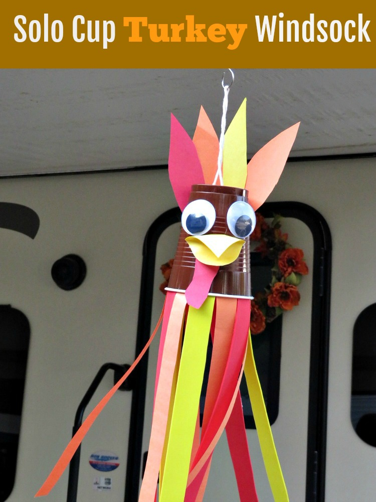 Solo Cup Turkey Windsock Featured at Merry Monday Link Up 181