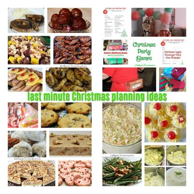 Last Minute Christmas Party Recipes & Game Ideas