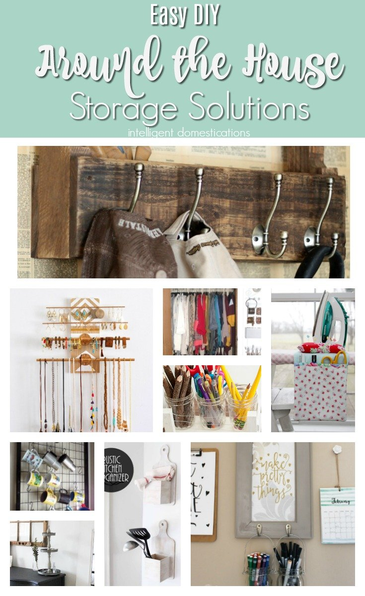 Easy DIY Storage Projects. DIY Storage for around the house. Merry Monday Features. DIY Storage projects. Storage Solutions