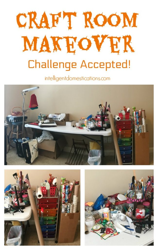 Craft Room Makeover. Ideas to make over your craft space. Craft space storage and organization ideas.