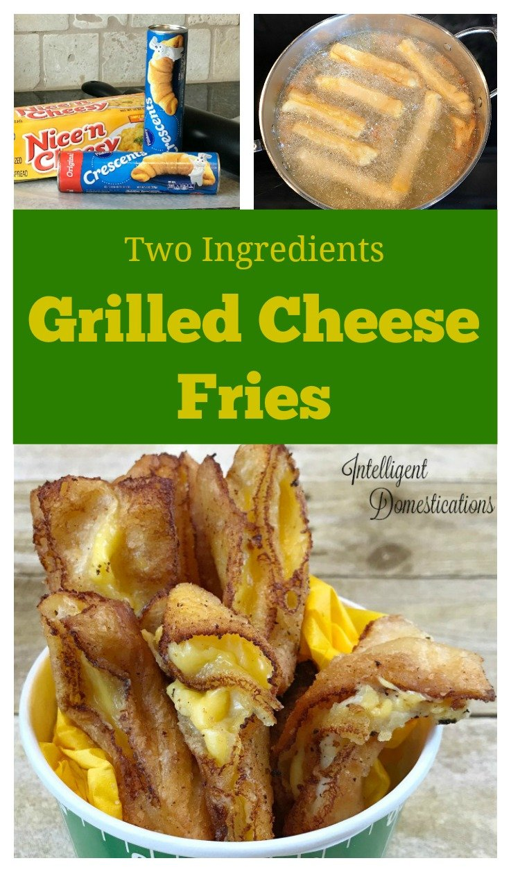 Grilled Cheese Fries recipe. How to make Grilled Cheese fries. Two ingredient party food. Football party food. Crescent roll recipes