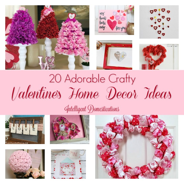 20 DIY Valentine's Home Decor Ideas (Merry Monday #191