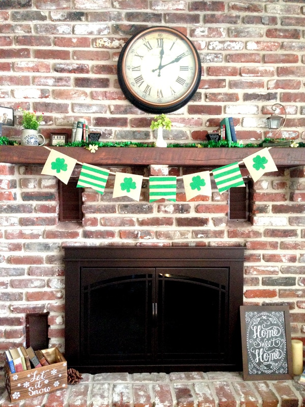 St. Patrick's Day Burlap Banner