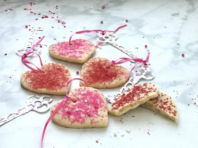 Perfect Valentines Heart Shortbread Cookie Recipe ~ Crafting a Family