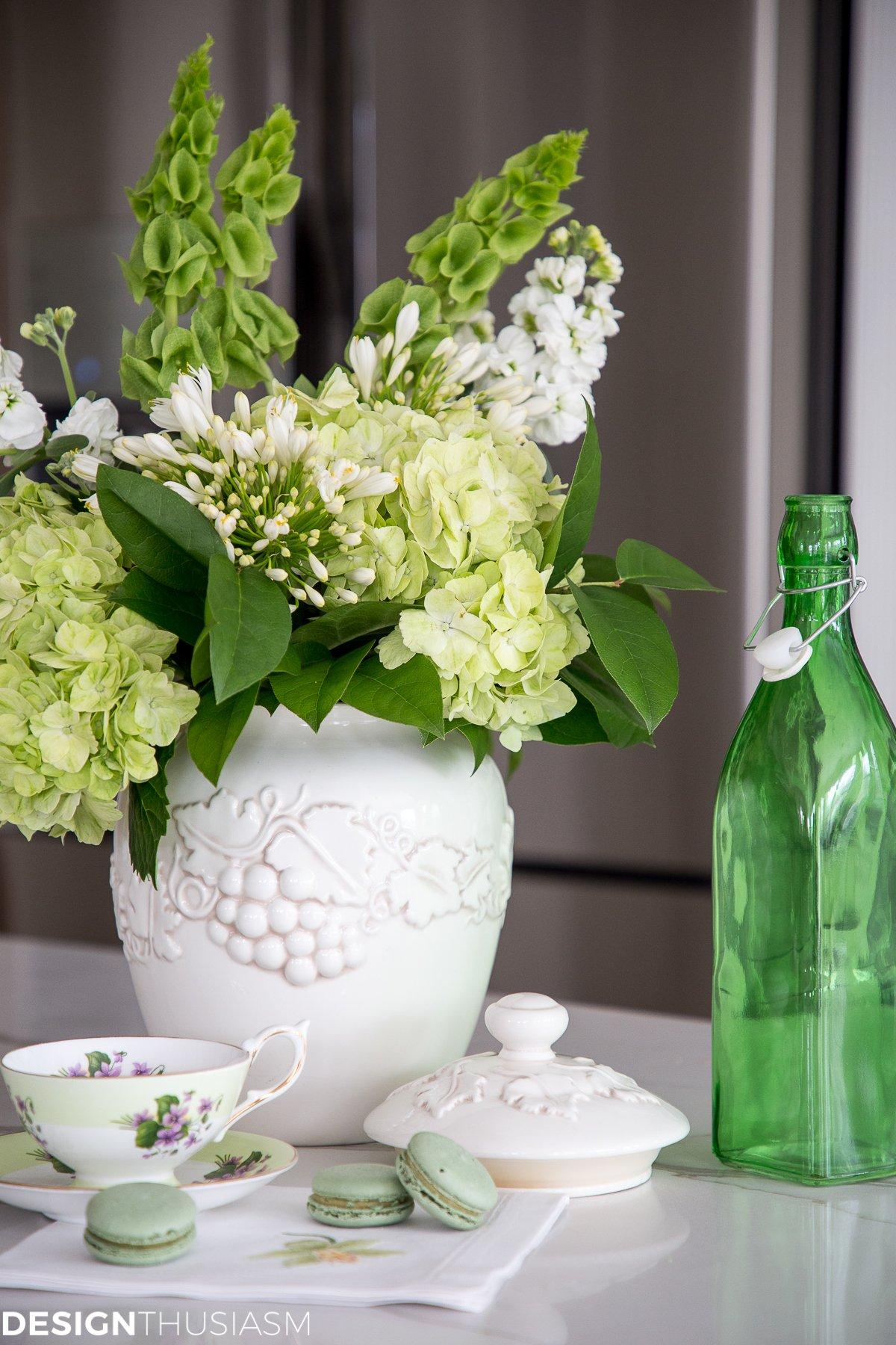 An Arrangement of Green Flowers
