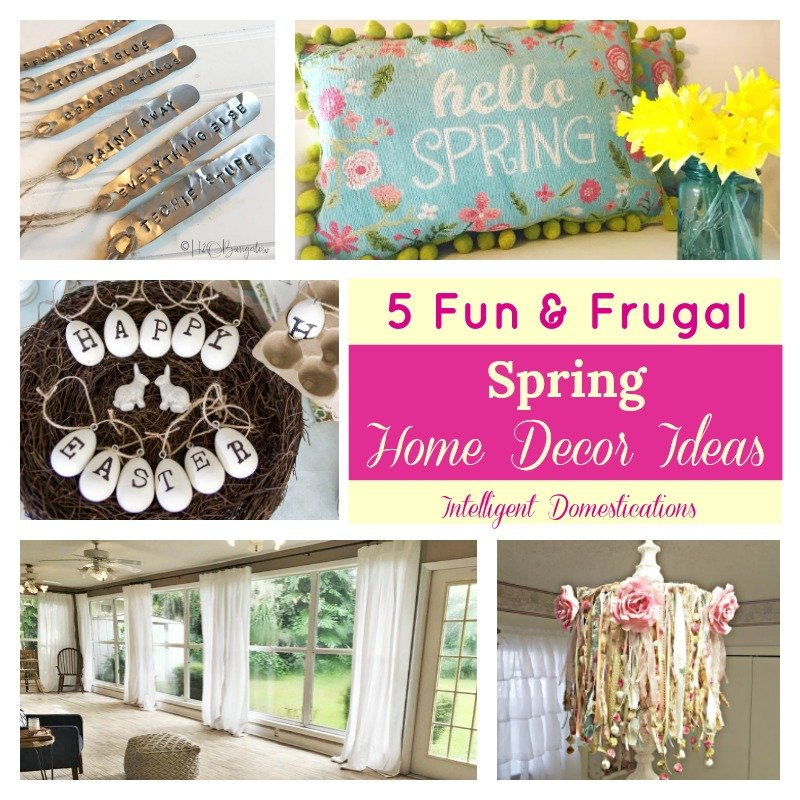 Interesting Home Decor Ideas: Fun & Frugal Spring Home Decor Ideas (Merry Monday 194