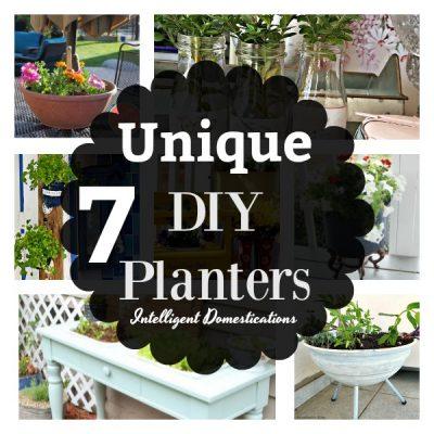 7 Unique DIY Planters (Merry Monday #201)