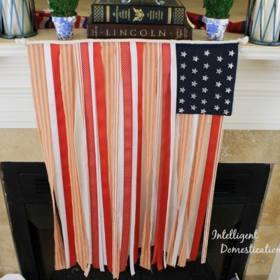 How To Make A No Sew Patriotic Ribbon Flag
