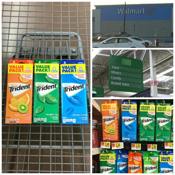 Buy Trident Sugar Free Gum at Walmart on the candy aisle #TridentAtWalmart