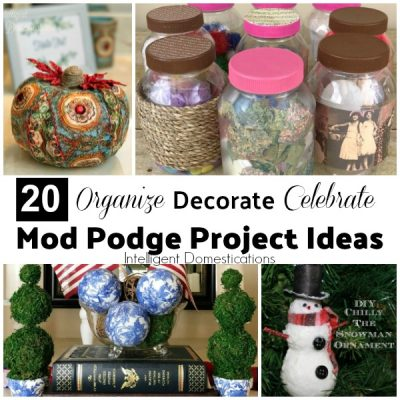 Create Frugal Decor with These 20 Mod Podge Projects