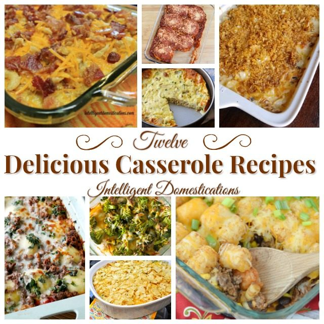 12 Delicious Casserole Recipes. 12 Delicious Casserole Recipes. Casserole recipes for every night of the week and then some! Lots of different flavors. #casserolerecipes #mealplanning #fordinner #tatertot #hamburger #chicken #breakfast #bestcasserole