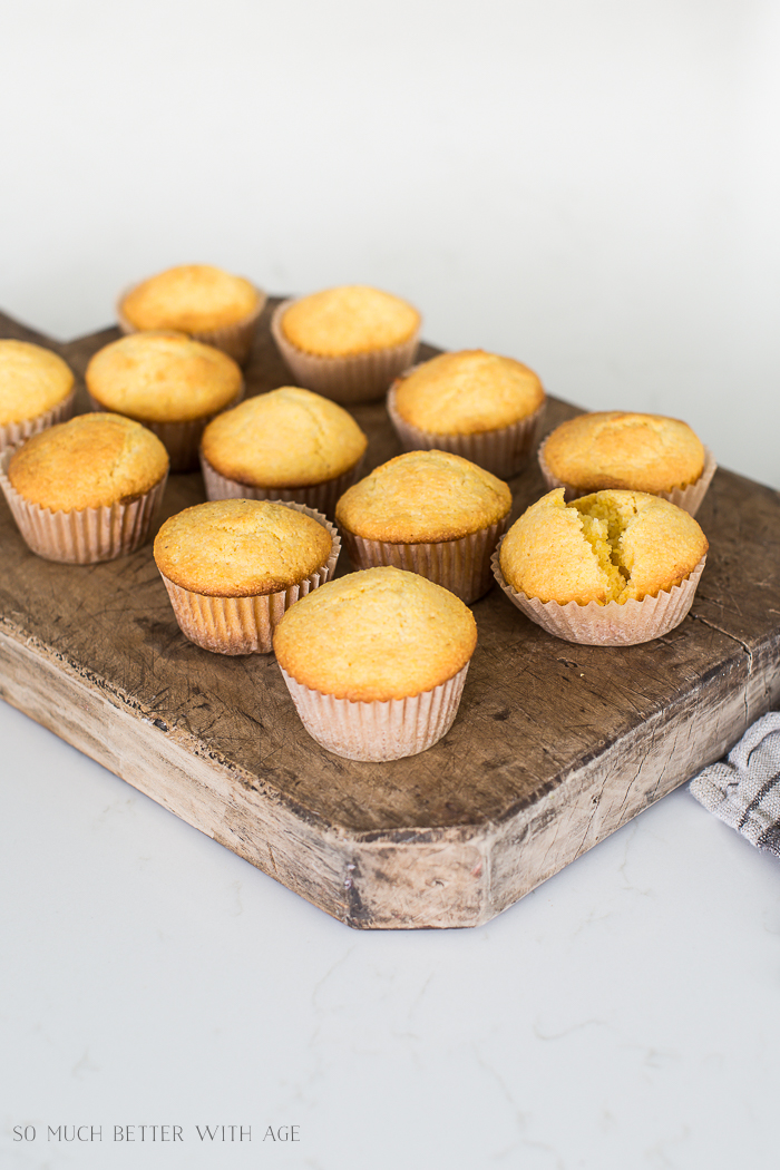 Sweet Cornbread Muffins made from scratch