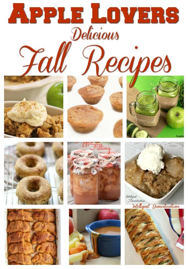 Apple dessert recipe ideas for fall food. #apples #dessert