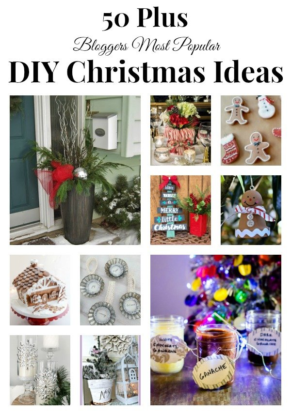 We are kicking off the 4th Annual 12 Days of Christmas event with a collection of most popular DIY Christmas Ideas from 50 plus bloggers!