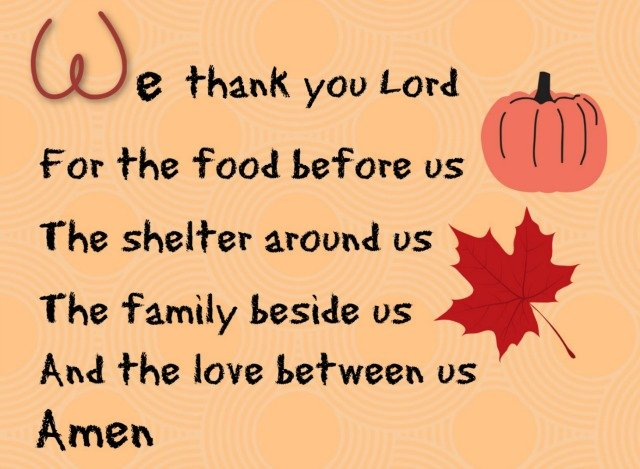 4 Short Prayers to teach children to say before a meal. Teaching children to say Grace before a meal. #mealtimeprayers