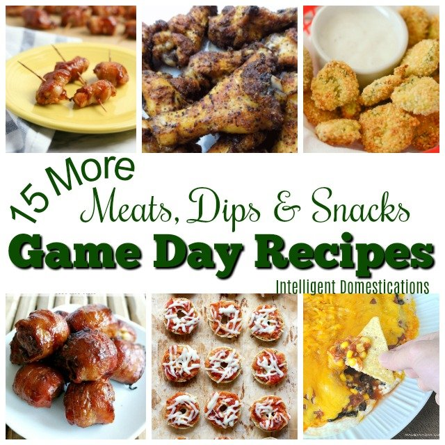 Game Day Recipe Ideas. Meats, Dips and Snack recipes for a great Game Day party at home. #gameday #partyfood