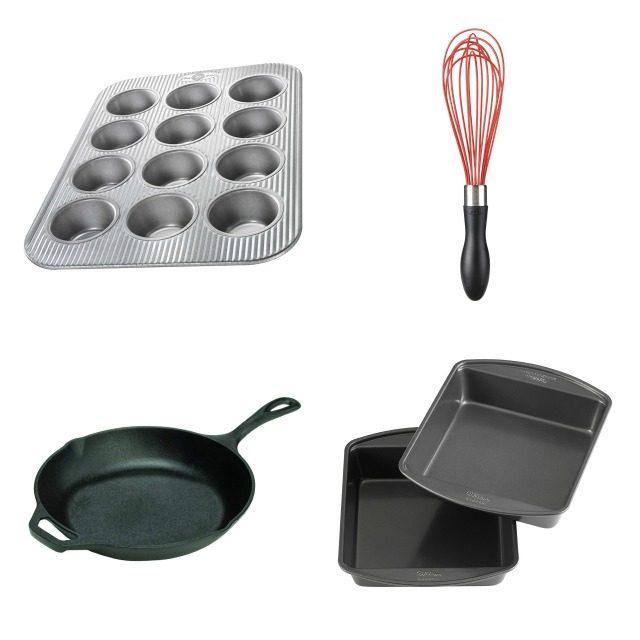 Supplies for baking cornbread