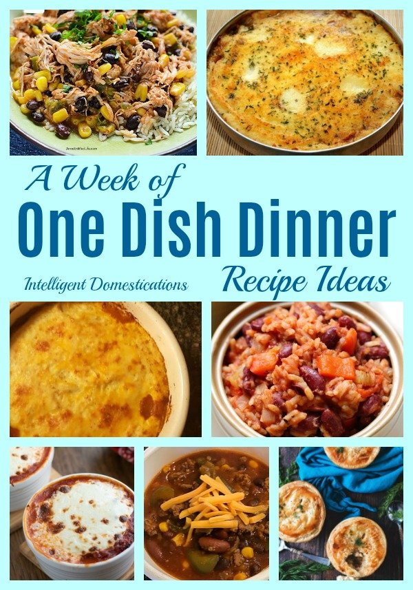 One Dish Dinner recipe ideas to try. Bloggers best One Dish Dinner Recipe Ideas. #onedishdinner