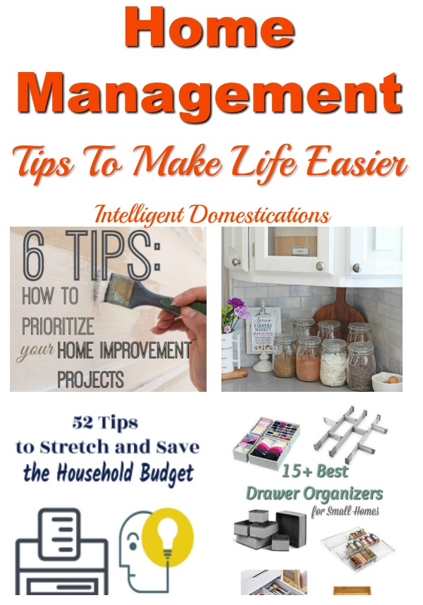 Home Management Tips and Solutions to make life easier. #homemanagement