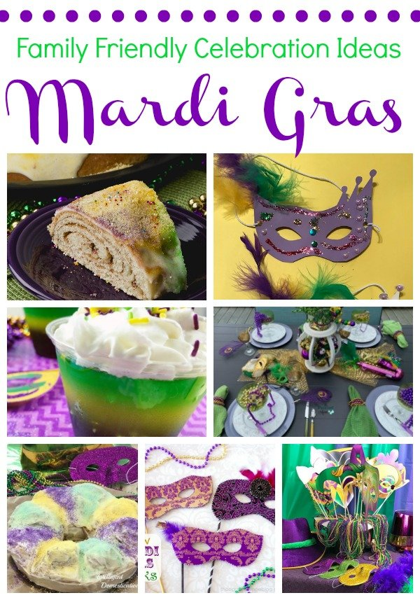 Family Friendly Mardi Gras Celebration Ideas. #mardigras #fattuesday