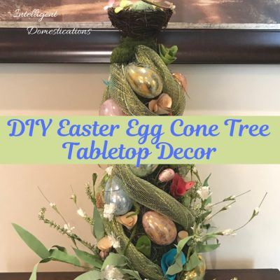 How To Make A Easter Egg Cone Tree