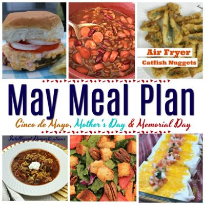 May Meal Plan Calendar