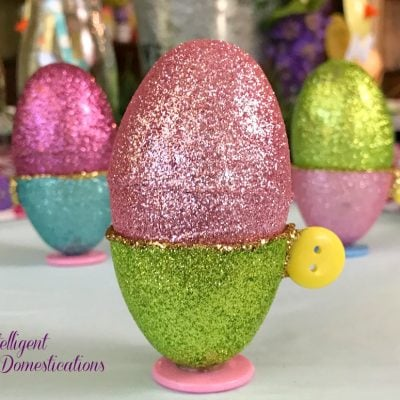 Easy Egg Cups From Plastic Easter Eggs
