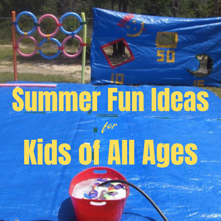 Summer Fun Activity Ideas for Kids of all ages. #summer #summeractivities
