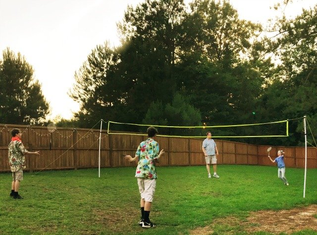 People playing Badminton
