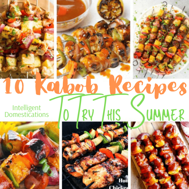 Ten Kabob Recipes for your Tropical Party. Try these Kabob recipes this summer. Good for a Tropical party of anytime. Chicken, Pork, or Shrimp skewered along with fruits and veggies make a delicious summer treat. #kabobrecipes
