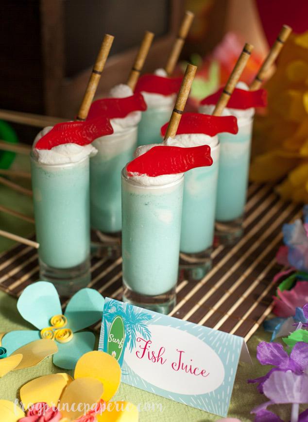 Surf's Up Blue Hawaiian Milkshake Shots