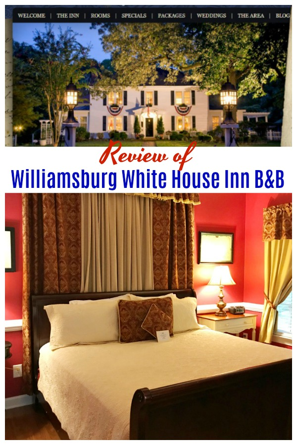 Review of Williamsburg White House Inn B&B located in Williamsburg Virginia #bedandbreakfast