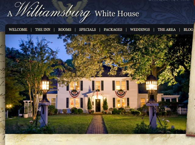 Screenshot of Williamsburg White House Inn Bed & Breakfast